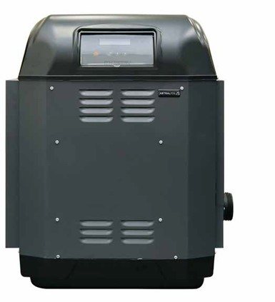 gas heater for pools-back view