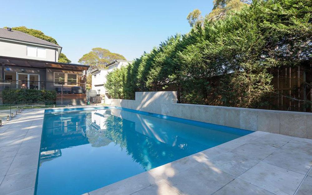 Lan Cove Concrete Pool With Cream Paving
