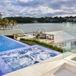 Connells Point Lap Pool with spa Built By Blue Haven Pools