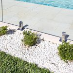 Pool glass fencing with spigots