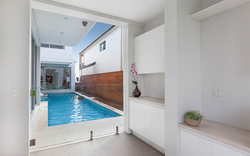 South Hurstville Lap Pool with Glass fence